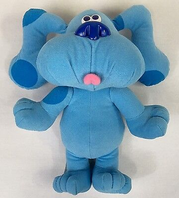 Blues Clues Sing-Along BLUE Singing Barking Plush Doll Toy Tyco 1997 TESTED