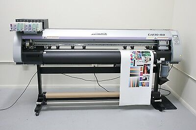 "Mimaki CJV30-160. ""PRINT & CUT"" 64"" Wide Format Solvent Printer."