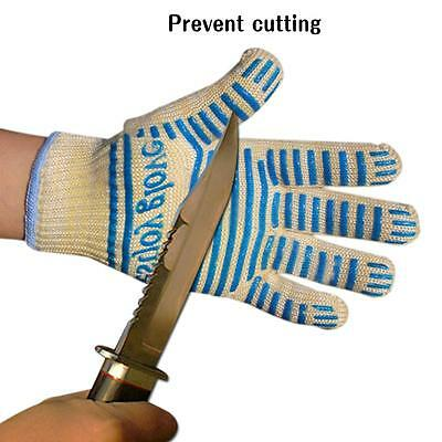 Silicone Kevlar Cotton Heat Insulation BBQ Heatproof Grill Microwave Oven Gloves