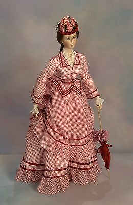 "FOR 24"" Lady Marion Doll 1870 Summer Visiting Dress Sewing Pattern #85"