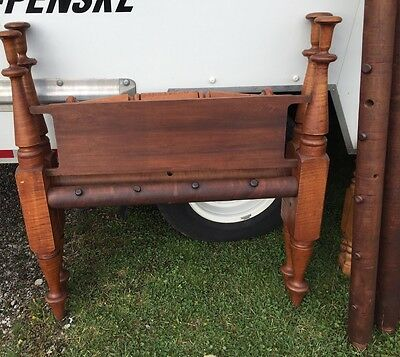 Antique 18thC ROPE BED Heavy Wood Beautiful Condition