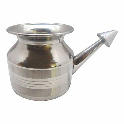 Easygo India Non-Toxic Stainless Steel Neti Pot for Nasal Congestion