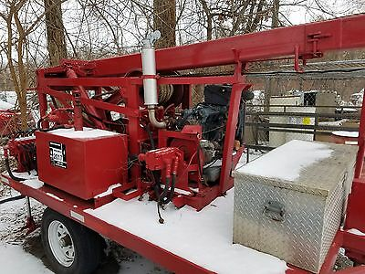 Well Drilling RIG Pump Hoist on Trailer