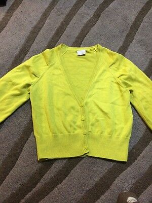 GIRLS NEXT CARDIGAN AGE 13-14 Citrine Lime Stretch cotton long sleeved cardigan