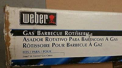Weber Rotisserie For Gas Grill BBQ Barbecue #9890 New in Box