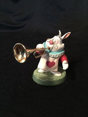 Alice in Wonderland ROYAL FANFARE WHITE RABBIT FIGURINE 2004