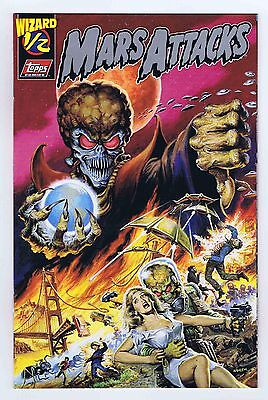 Mars Attacks 1/2 Wizard Platinum Variant Rare NM- 1996 Topps Comics