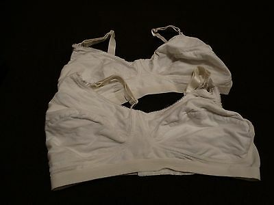 Pair Of White Mothercare Maternity Bras Size 40E