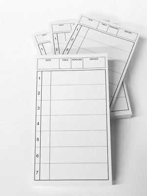 """Restaurant Server Order Printed Scratch Pads 3"""" x 5"""", Up to 7 Guests, Pack of 10"""