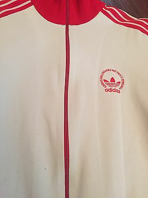 Adidas Originals 1970s 1980s True Vintage Track Jacket RARE Size: Small Slim Fit