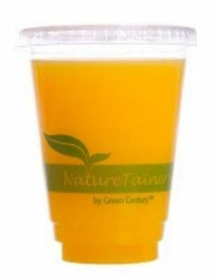 NatureTainer Compostable Clear 12oz Cold Drink Cups, Case of 1000