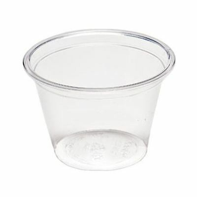 NatureTainer Compostable Clear Portion Condiment Cup 4oz, Case of 2000