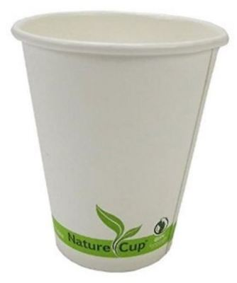 NatureCup 10oz Compostable PLA Lined (Plant Based) Paper Hot Drink Cups, Single