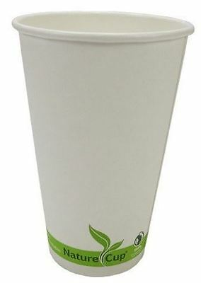 NatureCup Compostable Paper Double Wall 20oz Hot Coffee Drink Cups, Case of 600