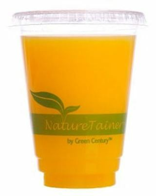 NatureTainer Compostable Clear 9oz Cold Drink Cups, Case of 1000