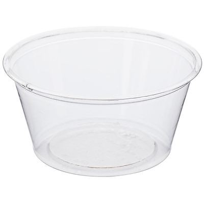 NatureTainer Compostable Clear Portion Condiment Cups 2oz, Case of 2000