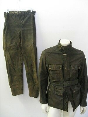 Vintage BELSTAFF Waxed Cotton Motorcycle Jacket and Pants Size 40