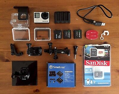 GoPro HERO4 Silver Edition - With Accessories And Guide