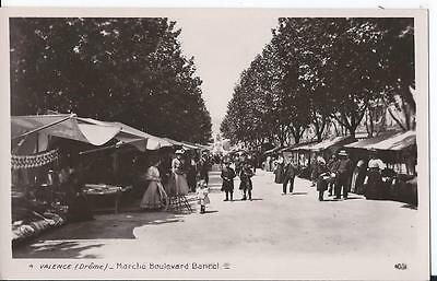 CPA PHOTO - VALENCE (26) Marché Boulevard Bancel - ANIMEE