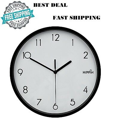 New Large Non-Ticking Wall Clock Indoor/Outdoor Silent Modern Quartz Design Gift