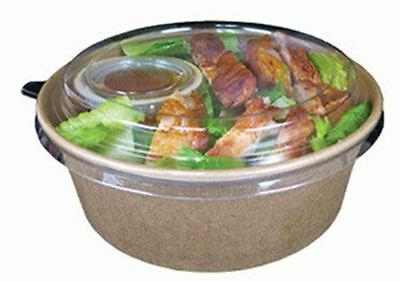 Green Deli 40oz Clear Dome Lids for Kraft Salad Containers - Case of 270Lids fit
