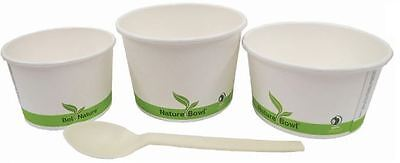 NatureBowl 16oz Compostable PLA Lined Paper Takeout Food Container - Case of 500