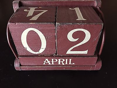 Vintage Block Calendar 6.5 Inches Long x 4 Inches High ***NICE PIECE***