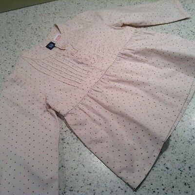 Girls Gap spotty light pink shirt aged 6-12 months