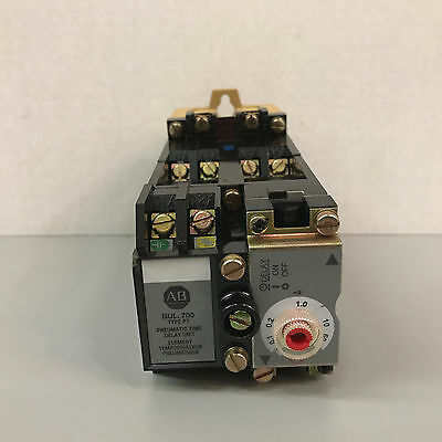 New Allen Bradley 700-PT400A1 Ser. C AC Relay with Pneumatic Time Delay Unit