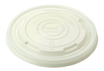 Eco-Packaging Compostable (Plant Starch) Vented Lids for 12 - 32oz - Case of 500