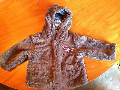 Baby Boy Hooded Jacket Age 6-9 Months