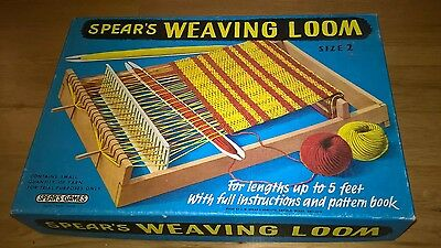 VINTAGE BOXED SPEARS WEAVING LOOM SIZE 2 near complete