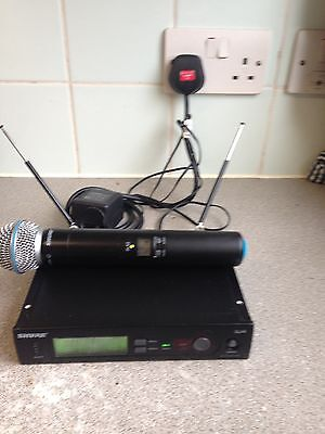 Shure SLX2 Wireless Microphone and transmitter with SLX4 receiver