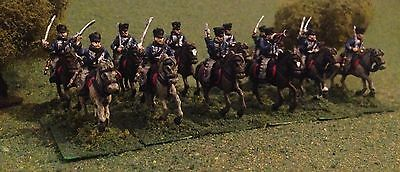 Prussian 3rd Hussars Brandenburg . Napoleonic / Waterloo 1/72 Painted. Hat.
