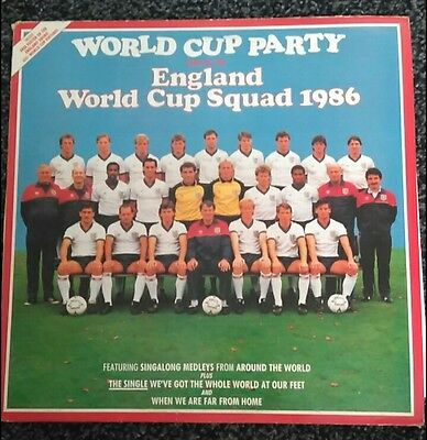 *SPECIAL OFFER SEE DETAIL*World Cup Party England World Cup Squad 1986 vinyl LP