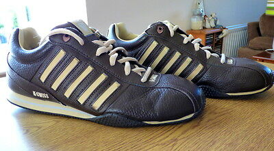 Genuine K - Swiss Men's Brown Casual Shoes / Trainers Size 9 EU43