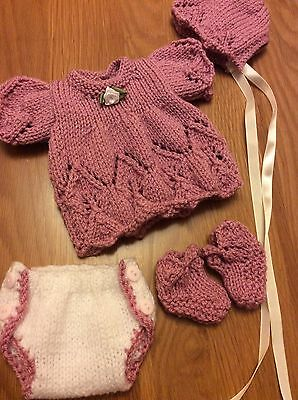 """Hand Knitted Dolls Clothes - Cute Outfit For 12"""" Doll"""