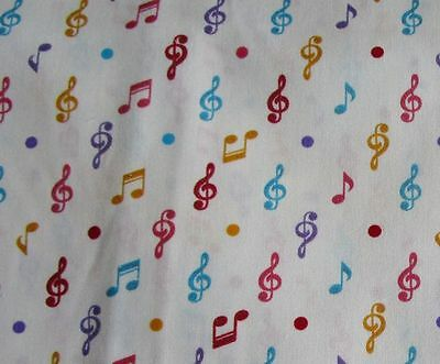 Music note patchwork fabric