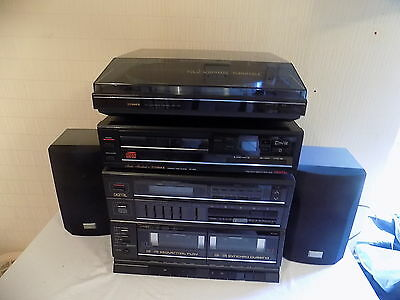 Fisher Compact M60 Stereo Hi Fi System Turntable Cd Player Synthesiser Cassette