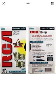 RCA -120H Standard Grade VHS T-120 Blank Tape New Sealed *Free S&H*