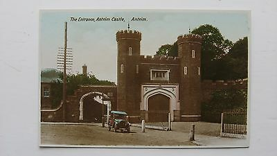 Old postcard The Entrance Antrim Castle, Antrim Milton Series Real Photograph