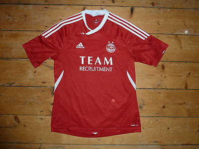 large ABERDEEN FC Football Shirt 2011 Soccer Jersey Scottish #Dons Climacool