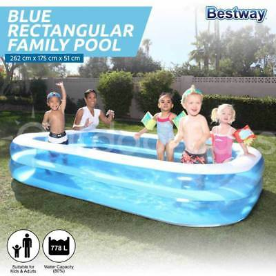 Bestway Inflatable Swimming Pool | Large Childrens Kids Rectangular Family Pool