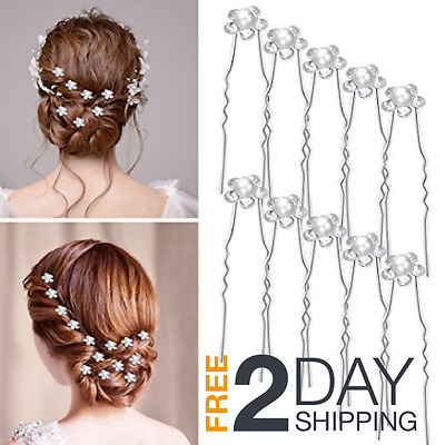 Wedding Hair Piece Pins Bride Party Comb Pearls Bead Rhinestones Make Headpiece