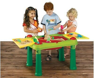 New Keter Sand and Water Play Table Kids Beach Outdoor Activity Plastic Toy