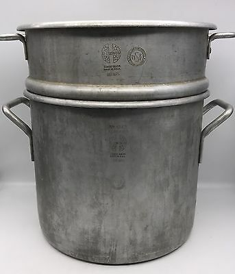 2-Piece Wear Ever No. 4362 20 qt 20 Quart NSF Aluminum Double Boiler Pot (17-650