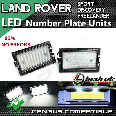 *2x Licence Number Plate LED Light White Land Range Rover Sport Freelander 2 LR2