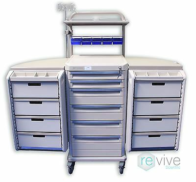 Metro Starsys 6 Drawer w/  Butterfly Medical Supply Cart - Procedure Cart - Cras