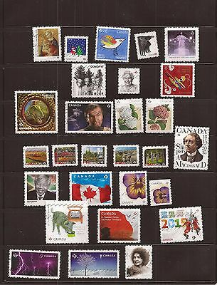 Nice Canada collection of 50 different used stamps from 2014 to 2016 only