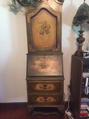 Vintage French Hand Painted Secretary